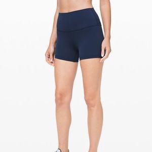 LULULEMON high waisted navy shorts